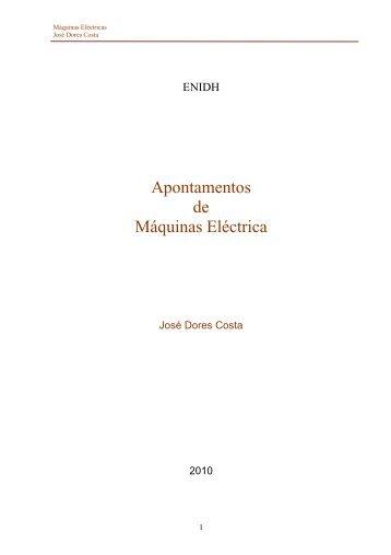 Apontamentos de Máquinas Eléctrica