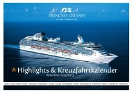 Highlights & Kreuzfahrtkalender - Princess Cruises