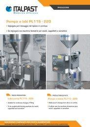 Pompa a lobi PL115 - 220 - Italpast