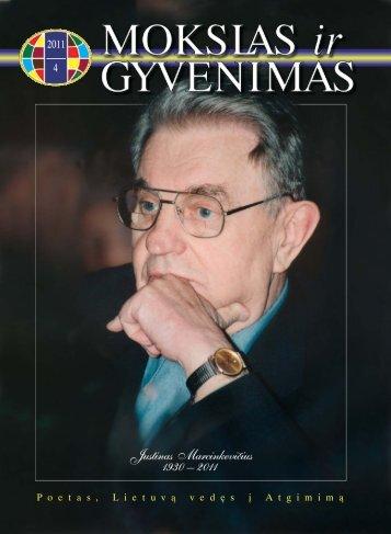 Justinas Marcinkevičius 1930 – 2011 - Vilniaus universitetas