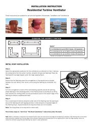 Residential Turbine Ventilator - Insulation Industries