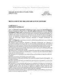 regulament de organizare şi funcţionare - Municipiul Campia Turzii