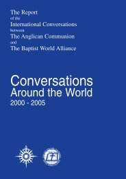 Conversations Around the World - 2000-2005 - Anglican Communion