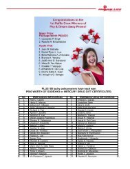 Pay and Dream Away Promo 1st Raffle Draw Winners - Philam Life