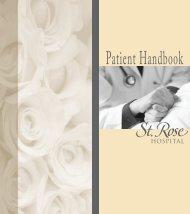 Patient Guide - St. Rose Hospital