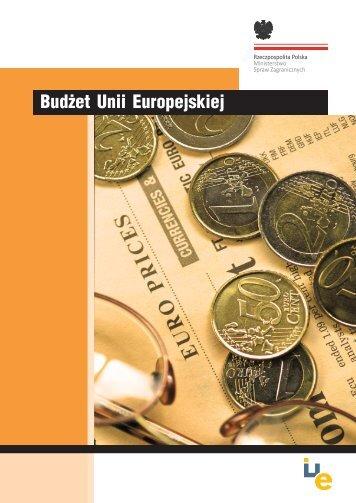 Budżet Unii Europejskiej - Centrum Informacji Europejskiej