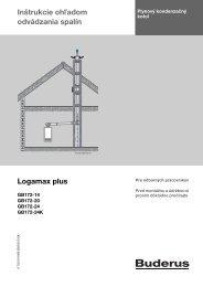 Inštrukcie oh adom odvádzania spalín Logamax plus - Buderus