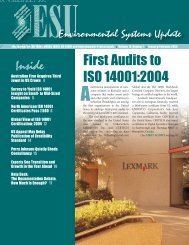 First Audits to ISO 14001:2004 - Quality Coach
