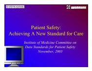 Achieving A New Standard for Care - National Committee on Vital ...