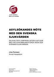asylsökandes möte med den svenska sjukvården - Malmö högskola