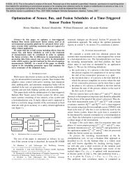 Optimization of sensor, bus, and fusion schedules of a time-triggered ...