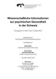 Wissenschaftliche Informationen zur psychischen Gesundheit in der ...