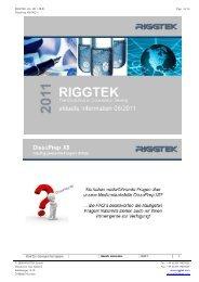 RIGGTEK-Info, 2011-08-01 Page 1 of 16 ... - RIGGTEK GmbH