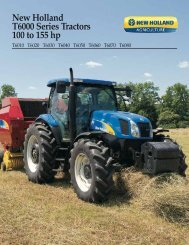New Holland T6000 Series Tractors 100 to 155 hp