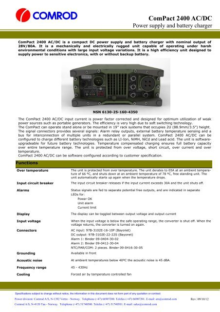 Compact 2400 AC-DC pdf - Military Systems & Technology