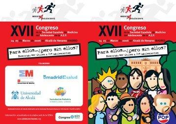 Programa - Sociedad Española de Medicina del Adolescente