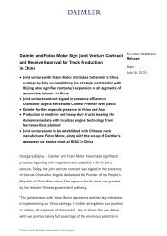 IR Release - Daimler