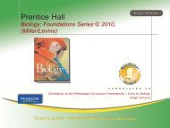 Miller and Levine Biology: Foundations Series - Pearson
