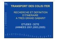 transport des colis iter - PLATEFORME OUVRAGES D'ART -