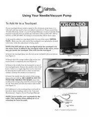 Using Your Needle/Vacuum Pump - Colorado Time Systems