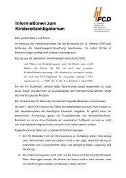 Sehr geehrte Eltern und Trainer Im Interesse der ... - FC Dübendorf