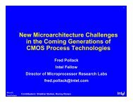 New Microarchitecture Challenges in the Coming Generations of ...