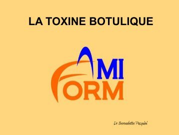 LA TOXINE BOTULIQUE - bienvenue sur le site de l'amiform