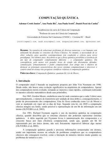 Artigo cientifico exemplos