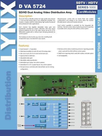 D VA 5724 ver 1.1.indd - LYNX Technik AG