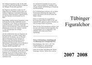 Mittwochabend im Figuralchor - Tübinger Figuralchor - Home