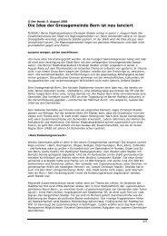 Die Idee der Grossgemeinde Bern ist neu lanciert - Bern neu gründen