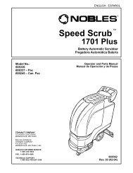 Nobles 1701 Plus Scrubber operator-parts manual - Tedjgross.com ...