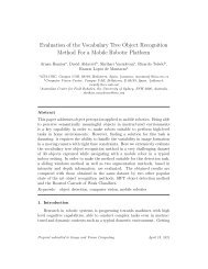 Evaluation of the Vocabulary Tree Object Recognition ... - IIIA - CSIC