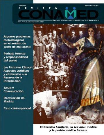 Revista CONAMED, Vol. 9, Núm. 4 octubre - diciembre, 2004