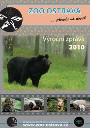 výroční zpráva 2010 ( 3,81 MB ) - Zoo Ostrava