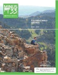 Minus 33 2013-2014 Catalog