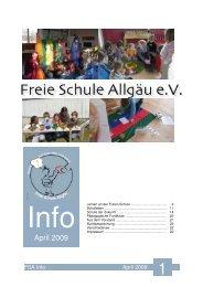 FSA Info April 2009 - Freie Schule Allgäu