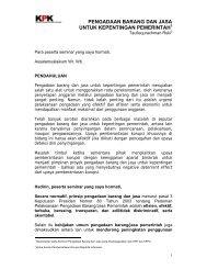 pengadaan barang dan jasa untuk kepentingan pemerintah - KPPU