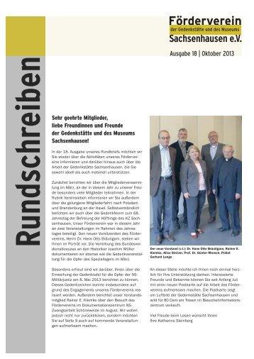 Rundschreiben Nr. 18 - Stiftung Brandenburgische Gedenkstätten