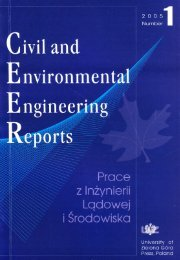 Civil and Environmental Engineering Reports