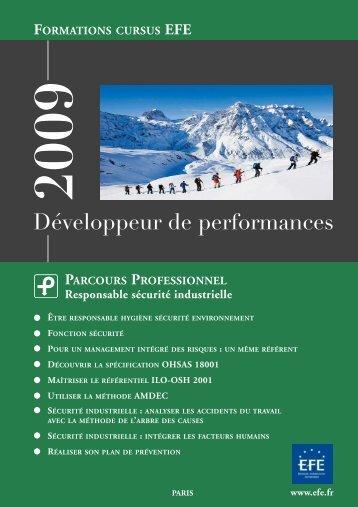 parcours professionnel 2009 - Efe