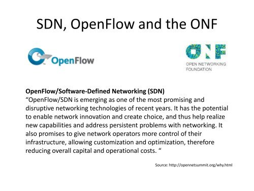 OpenFlow/Software-Defined Networking (SDN) - Erlang Factory