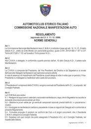 Regolamento commissione nazionale manifestazioni auto