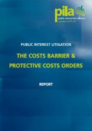 THE COSTS BARRIER & PROTECTIVE COSTS ORDERS - Pelorous