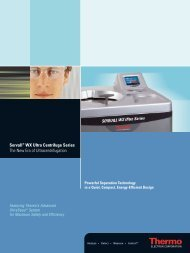 Sorvall® WX Ultra Centrifuge Series The New Era of ...
