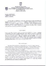 Potvrda o prihvatljivosti zahvata za ekolosku mrezu - Bjelovarsko ...