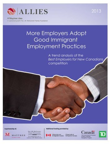 Employers Adopt Good Immigrant Employment ... - Allies Canada