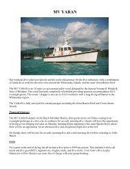 MV YARAN - North Queensland Underwater Explorers Club