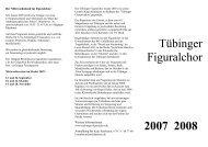 Tübinger Figuralchor 2007 2008 - Tübinger Figuralchor - Home
