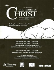 the birth of christ - Federal Way Chorale